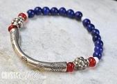艾文拍的美美水晶:2010/08/12Crystal最新作品之二-純銀釧紅琉璃青金石手鍊