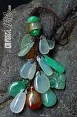 艾文拍的美美水晶:緬甸玉小水滴吊飾