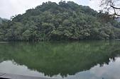 秋遊後慈湖:導遊說--這座像饅頭的山就是雙龍搶珠龍脈上的那顆珠,與水中倒影輝映,兩個半圓圓滿成一個圓