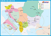羅馬尼亞_西奈亞SINAIA_帕麗絲PELES城堡:2巴爾幹九國22日行程地圖.jpg