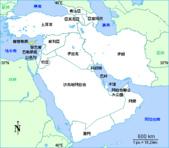 14-7約旦JORDAN-瓦迪倫WADI RUM_小山中的山谷_玫瑰色岩石峽谷:1-2以約敘黎塞中文地圖.gif