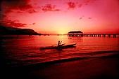 夏威夷全景 :圖片19-考愛島-哈納萊伊 皮艇,Hanalei Kayaker, Kauai,.jpg