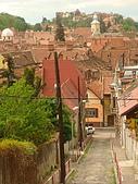 羅馬尼亞Romania_布拉索夫BRASOV古城:DSC02841羅馬尼亞_坐纜車上坦帕山俯瞰布拉索夫中古世紀古城