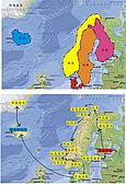 格陵蘭島的采風-GREENLAND:A4-北歐五國+格陵蘭島地圖及旅遊路線.jpg