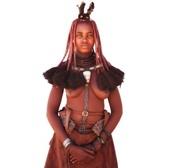 納米比亞 Namibia-辛巴族部落 The Himba Tribe:6-辛巴族已婚婦女正面照.jpg