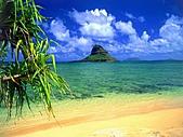 夏威夷全景 :圖片11-瓦胡島-佬的帽子,Chinaman's Hat, Oahu,.jpg