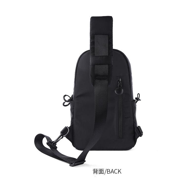 ㊣木村井泓 防水酷黑尼龍胸包 側背包 郵差包 單肩包 肩背包 斜背包 後背包(G0654)