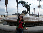 妹妹二零零九年元月來洛杉磯之旅:妹妹2009年一月攝於聖塔芭芭拉_1.jpg