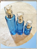 玻璃容器-容器-瓶瓶罐罐-化妝品容器、化工容器.容器:30ml 60ml 100ml 藍色玻璃壓瓶.jpg