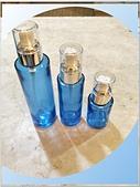 玻璃容器-容器-瓶瓶罐罐-化妝品容器、化工容器.容器:30ml 60ml 100ml 藍色玻璃噴瓶.jpg
