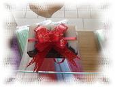 包裝類,圓形紗袋-紫,紅,粉紅,金黃,白,橘色,手提禮盒組,手提禮盒,配件提袋,手拉花,手提禮品:可用綁的或用膠帶固定的模樣