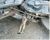 機車車台鈑金溶焊接 :中柱洞修補.JPG