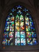 中歐14:捷克(布拉格.城堡區):捷克>布拉格.城堡區>聖維特大教堂>慕夏之窗