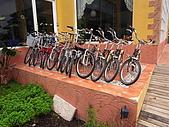 參訪一鶉園休閒農場:提供遊客騎乘的自行車