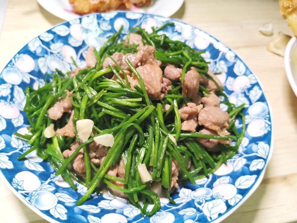 水蓮炒肉絲/水蓮料理/水蓮食譜