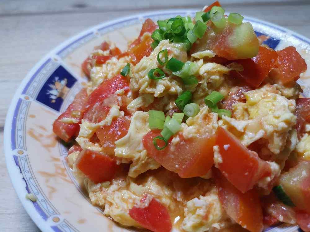 蕃茄炒蛋/蕃茄食譜/蕃茄料理/雞蛋料理/艾多美醬油