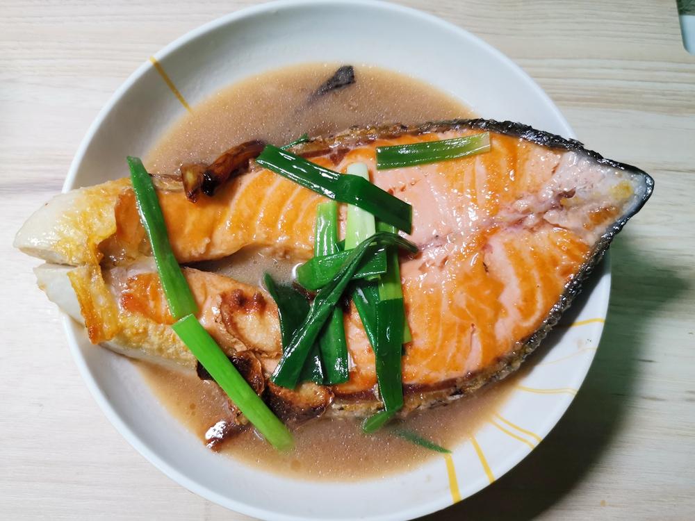蔥燒鮭魚/醬燒鮭魚/鮭魚料理/鮭魚食譜