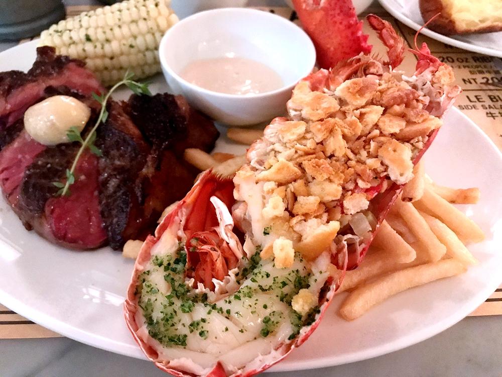 米其林餐盤推薦,樂邦牛排Le Blanc,特級肋眼+龍蝦一次滿足