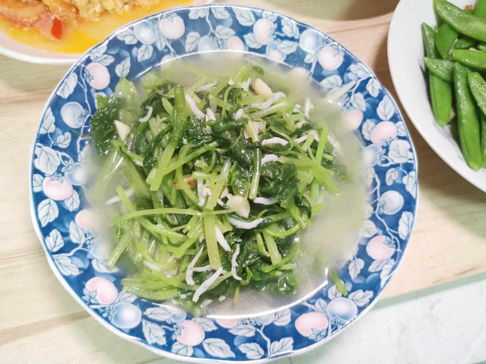 莧菜小魚/莧菜吻仔魚/莧菜料理