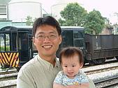 910601內灣小火車:中途下車和爸爸合照2.JPG