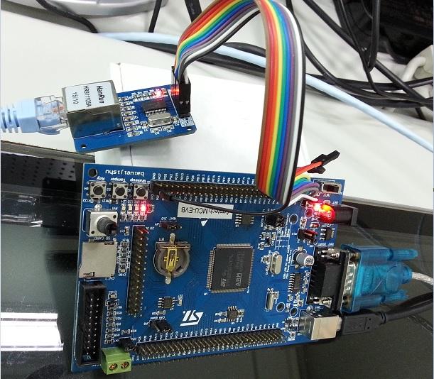 上課記實)在STM32教學板上移植Ethernet remote device and sensor,以